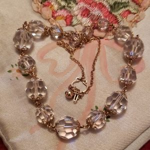 Vtg gold filled glass bead choker
